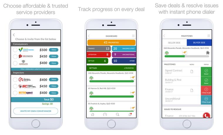 kdd conveyancing transactor mobile app snippet